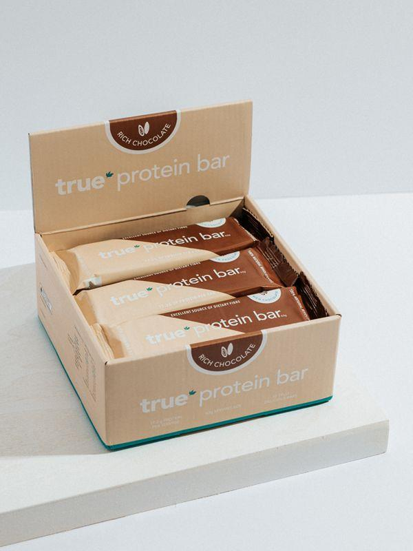 BOX OF 12 - PROTEIN BAR [Flavour: Rich Chocolate] [Size: 12 Bar Box]